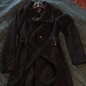 Yoki single breasted button pea coat